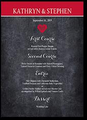 cherished calendar wedding menu