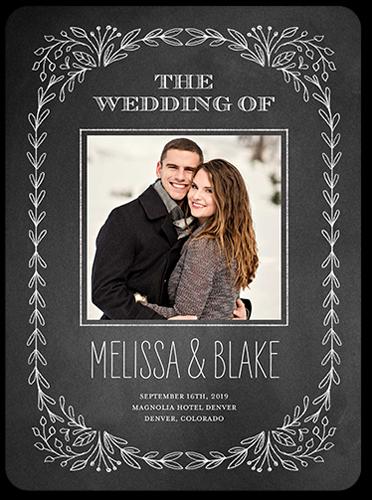 Captivated Chalk Wedding Program