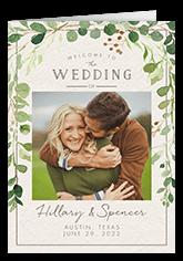 botanical union wedding program