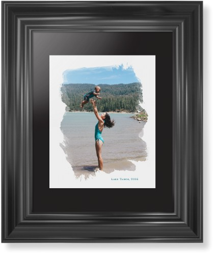Brushed Moments Framed Print, Black, Classic, Black, Black, Single piece, 8 x 10 inches, White