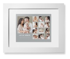growing up by month framed print