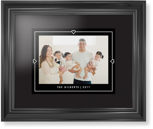 Heart Lines Framed Print, Black, Classic, None, Black, Single piece, 11 x 14 inches, Black