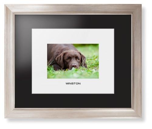 Photo Gallery Landscape Pet Framed Print, Metallic, Modern, White, Black, Single piece, 11 x 14 ...