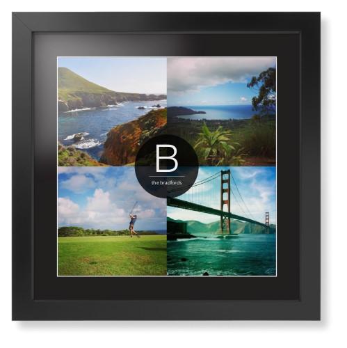Bold Monogram Framed Print | Wall Art | Shutterfly