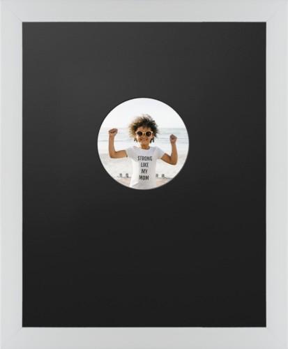 Offset Circle Deluxe Mat Framed Print