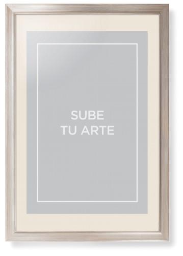 Sube Tu Arte Framed Print, Metallic, Modern, Cream, Cream, Single piece, 20 x 30 inches, Multicolor