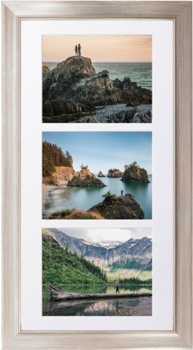 Triple Landscape Deluxe Mat Framed Print