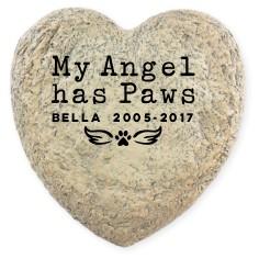 angel paws garden stone