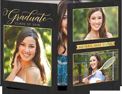 Elegant Scholar Graduation Announcement, Square Corners