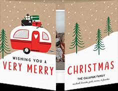 cute holiday camper christmas card