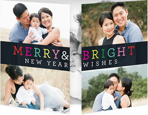 Colorful Merry Greetings New Year's Card