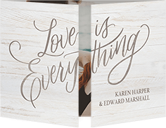everything lovely wedding invitation