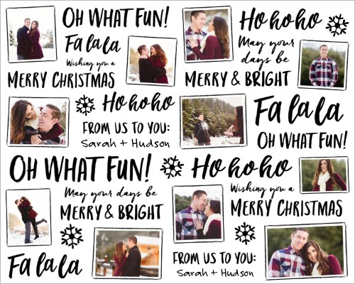 Holiday Script Gift Wrap