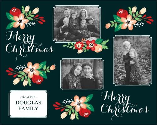 Chalkboard Floral Frame Gift Wrap