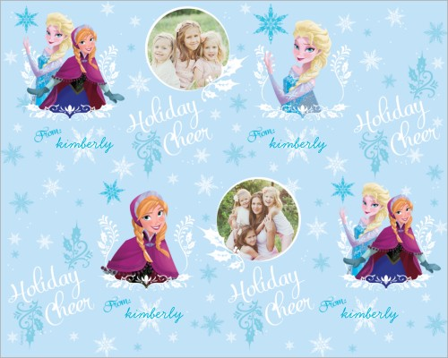 Disney Frozen Anna And Elsa Gift Wrap