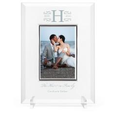 elegant wedding glass frame
