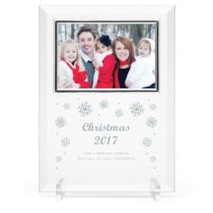 snowflake cheer glass frame