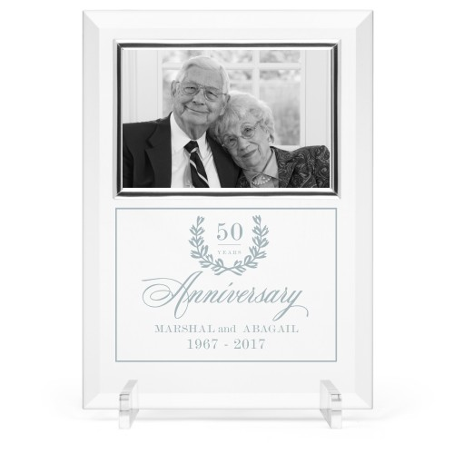 Forever Love Glass Frame, 8x11 Engraved Glass Frame, - No photo insert, White