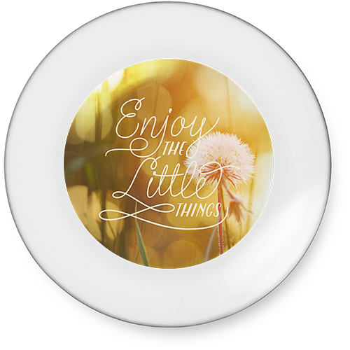Enjoy The Little Things Catch All Tray, 7x7, White