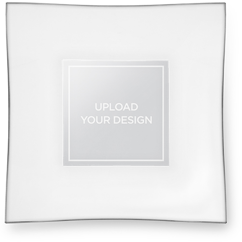 Upload Your Own Design Glass Plate