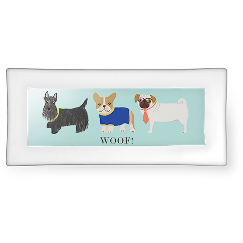 Dogs Catch All Tray, 3.75x7.5, Blue