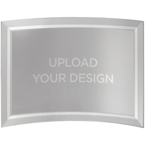 Upload Your Own Design Curved Glass Print