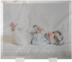 this is love flat glass print