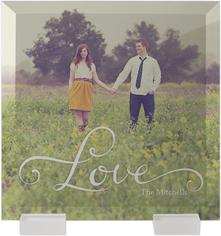 hand lettered love flat glass print