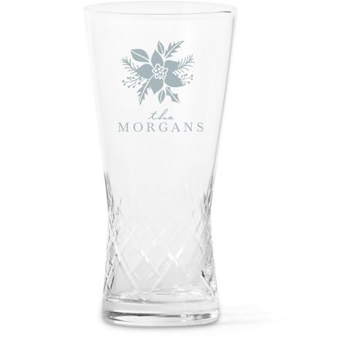 Poinsettia Glass Vase, Glass Vase (Trumpet), Glass Vase Single Side, White