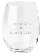 perfect pair heart wine glass