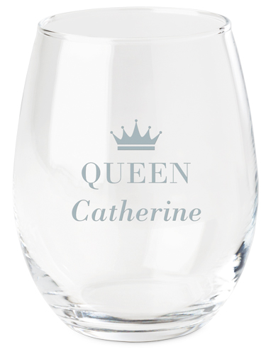 Customizable wine glass with royal crown at Shutterfly