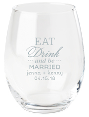 eat drink and be married wine glass