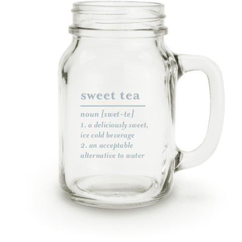 Word Definition Mason Jar, White
