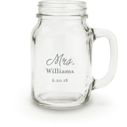 Mrs Mason Jar, White