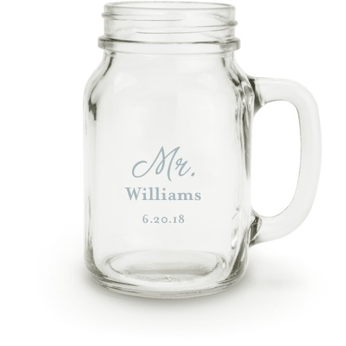 Mr Mason Jar, White