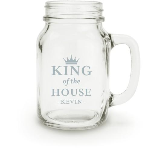 Crown King Mason Jar, White
