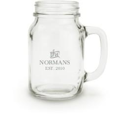 stately name mason jar