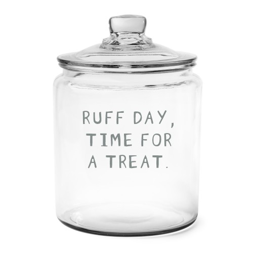 Pets In Your Words Glass Jar, Glass jar half gallon, Glass jar double side, White