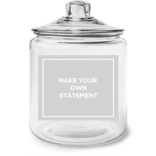 Make Your Own Statement Glass Jar, Glass jar gallon, Glass jar double side, White