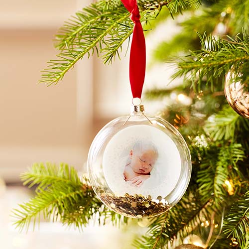 Rustic Joy Snowflake Glitter Ornament Christmas Ornaments Shutterfly