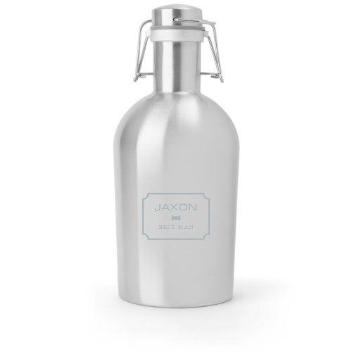 Wedding Party Growler, Growler Double Side, Stainless Steel, Stainless Steel, White