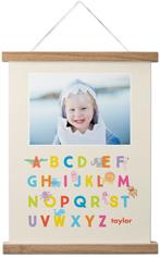 alphabet animals hanging canvas print