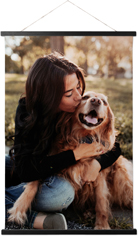 pets photo gallery hanging canvas print