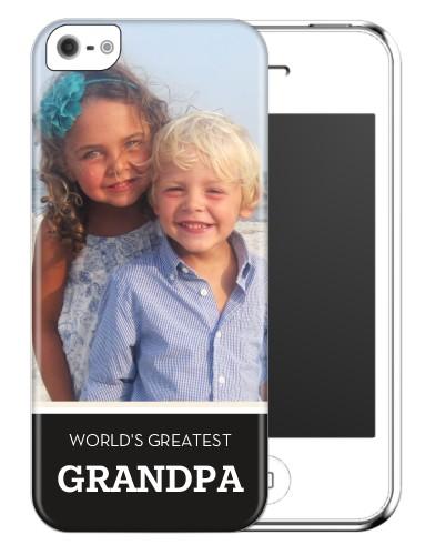 World's Greatest Grandpa iPhone Case, Slim case, Matte, iPhone 5/5S, Black