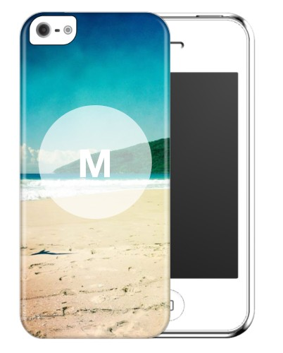 Frosted Glass Monogram iPhone Case, Slim case, Matte, iPhone 5/5S, White