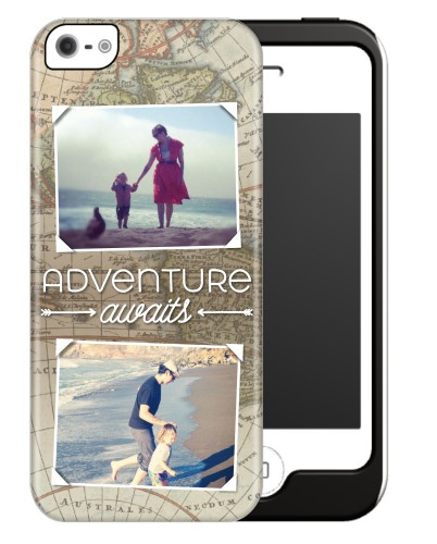 Map of Adventure iPhone Case, Silicone liner case, Glossy, iPhone 5/5S, Beige