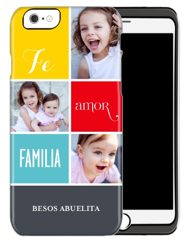 Fe Amor Familia iPhone Case, Silicone liner case, Glossy, iPhone 6, Grey