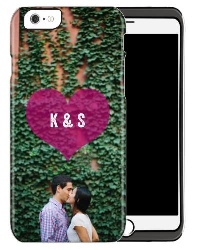 Purple Heart iPhone Case, Silicone liner case, Matte, iPhone 6, Purple