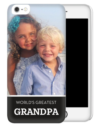 World's Greatest Grandpa iPhone Case, Slim case, Glossy, iPhone 6 Plus, Black