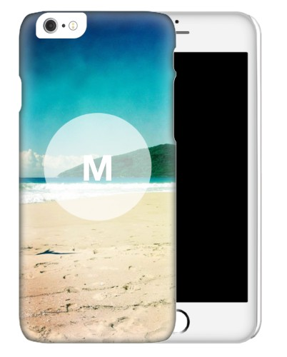 Frosted Glass Monogram iPhone Case, Slim case, Glossy, iPhone 6s, White